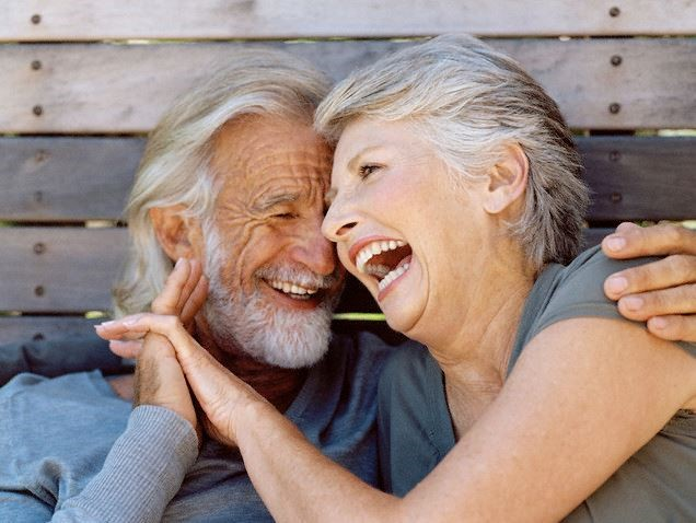 A older couple happy again after trying FT Marriage Counseling near Skye canyon Las Vegas